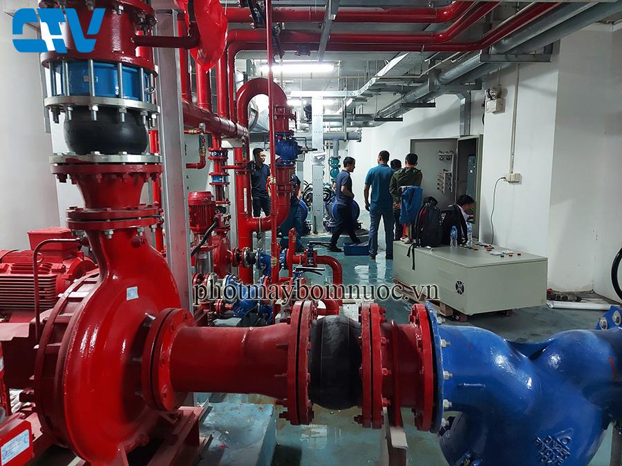 Lắp đặt tủ điện điều khiển bảo vệ hệ thống máy bơm PCCC ở các tòa nhà, chung cư cao tầng